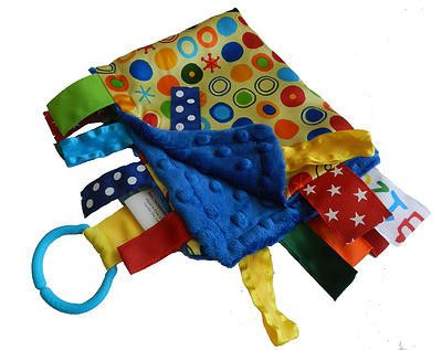 Baby Jack Blankets Satin Yellow Circles Lovie Baby's First & Favorite Blanket!