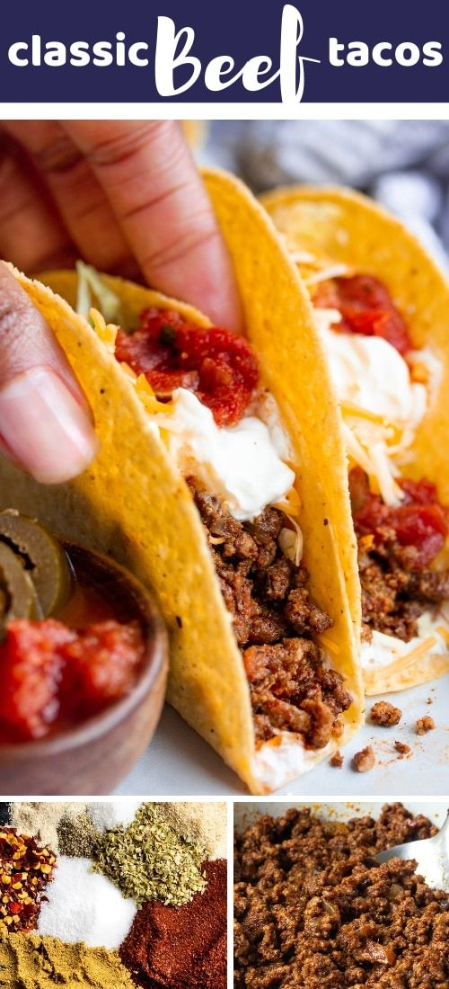 Best Classic Ground Beef Tacos Recipe Tacos Beef Ground Beef Tacos Food