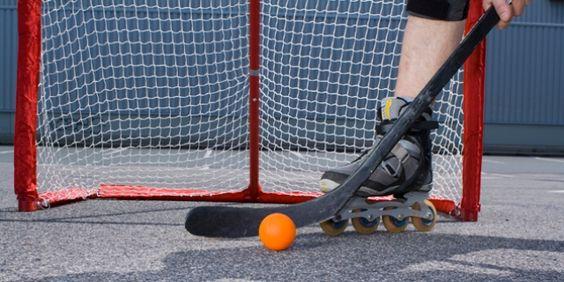 Let him teach me how to play street hockey
