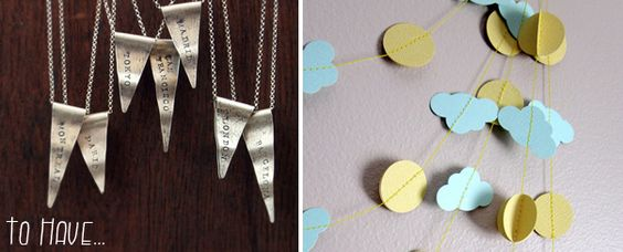 sunshine on a cloudy day garland- adorable!