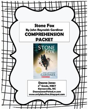 Stone Fox Comprehension Packet AMAZING FREEBIE! Lots of other Stone Fox freebies in this teacher's store :)