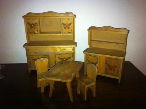 Konvolut Bauern-Möbel Puppen-Möbel Küche Schlafzimmer Uhr - küche in polen kaufen