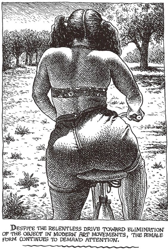 "Robert CRUMB 1996 - ART  BEAUTY MAGAZINE #1 -  ""… continues to demand attention."":"