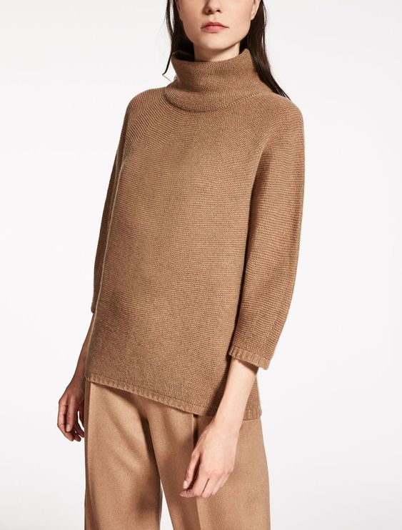 Max Mara OVALE camel: Wool and cashmere sweater. | Style mi ...