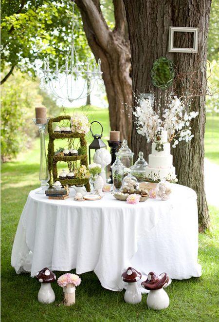 Mesa de dulces para matri en el campo tea party alice in - Mesas de campo ...