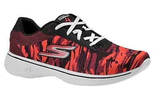 Skechers Go Walk 4 Motion Womens Walking Sneakers Black/Hot Pink 5.5