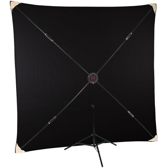 Black Muslin with PXB Portable X-frame Background System 2.45メートル四方
