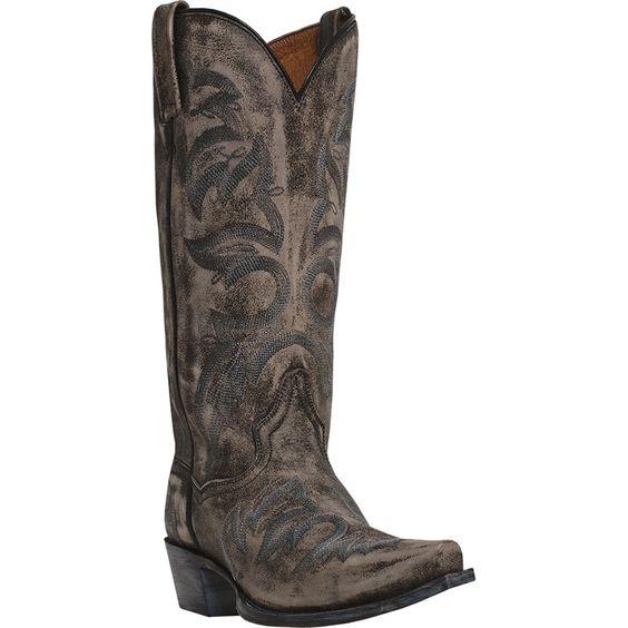 Dan Post Mens Gray Tombstone Leather Julian 13in Western Cowboy Boots