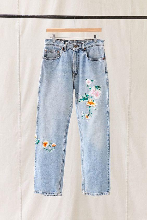 Vintage levi s floral embroidered jean levis