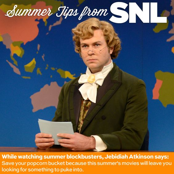 Jebidiah Atkinson reviews this summer's blockbuster movies. #SNL