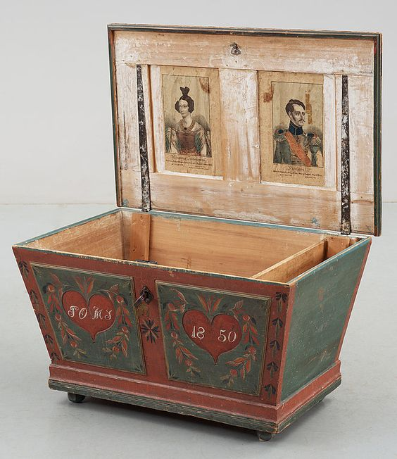 c1850 marriage chest.