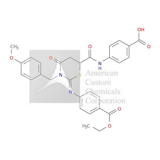 4-[[(2Z)-2-(4-ETHOXYCARBONYLPHENYL)IMINO-3-[(4-METHOXYPHENYL)METHYL]-4-OXO-1,3-THIAZINANE-6-CARBONYL]AMINO]BENZOIC ACID is now  available at ACC Corporation