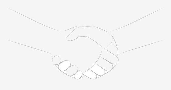 Vẽ các ngón tay khi đang bắt tay