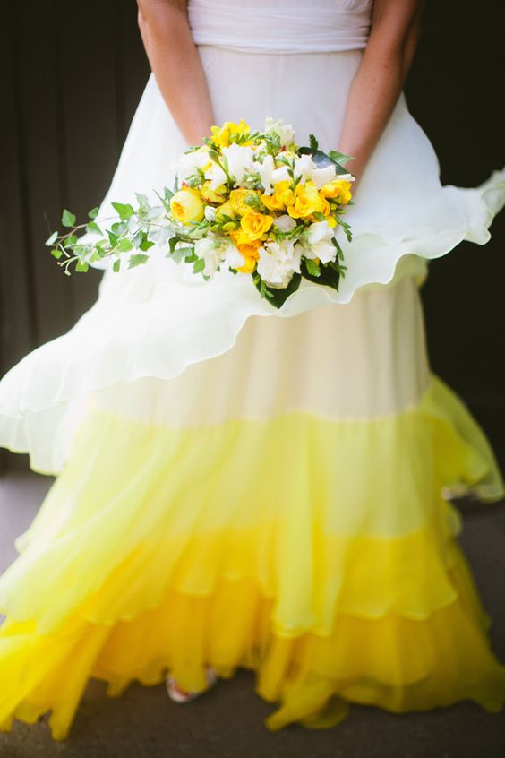 Ombre yellow wedding