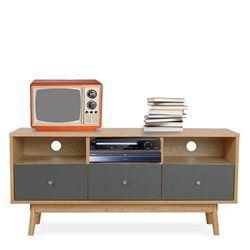 Meuble TV design scandinave 3 tiroirs Skoll_