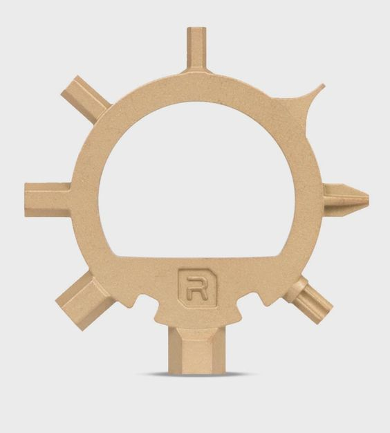 Gold Ringtool Steel Bike Tool   An ultra-light solution for cyclist commuters, this gold plate...   Bicycle Accessories