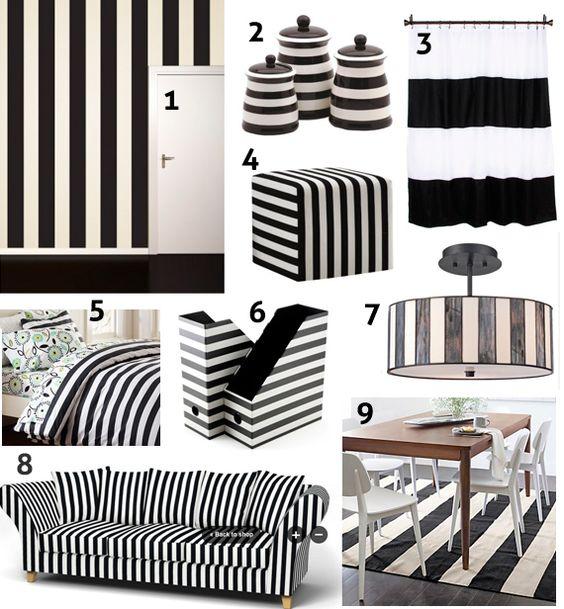 Black And White Striped Home Decor Ideas
