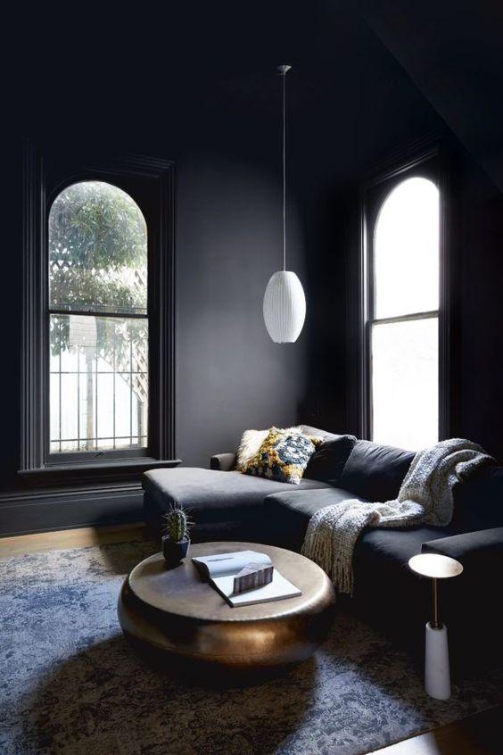 Dark, moody and cozy room