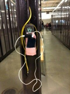 Homemade cellphone charger holder #DIY