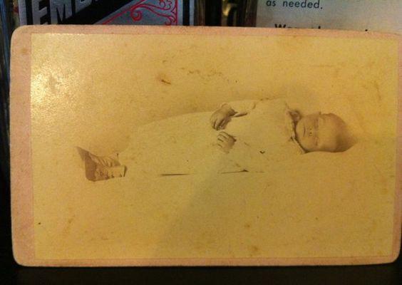 Victorian post mortem baby boy CDV by SinIsPretty on Etsy, $49.50