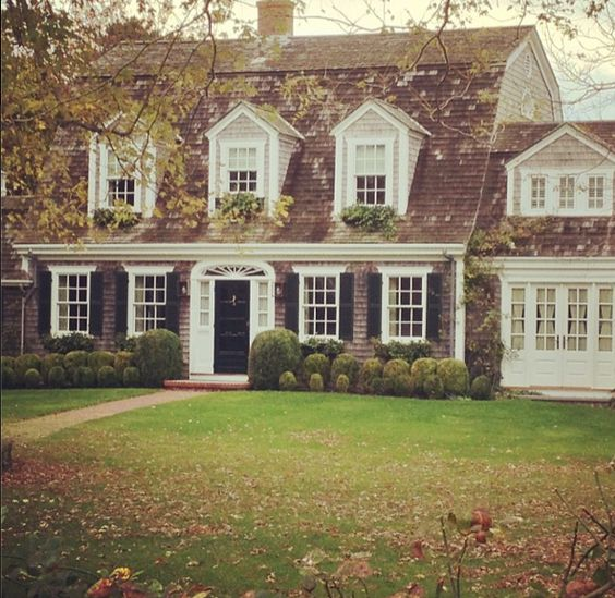 Dutch colonial house and colonial on pinterest for Dutch style homes