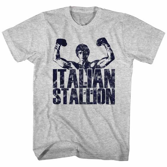Rocky Balboa Italian Stallion Boxing Gloves Men/'s T Shirt Champion Fighter Stars