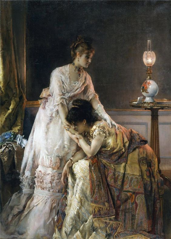 Alfred Stevens - after the ball: