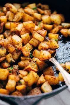Easy Skillet Breakfast Potatoes Recipe | Little Spice Jar