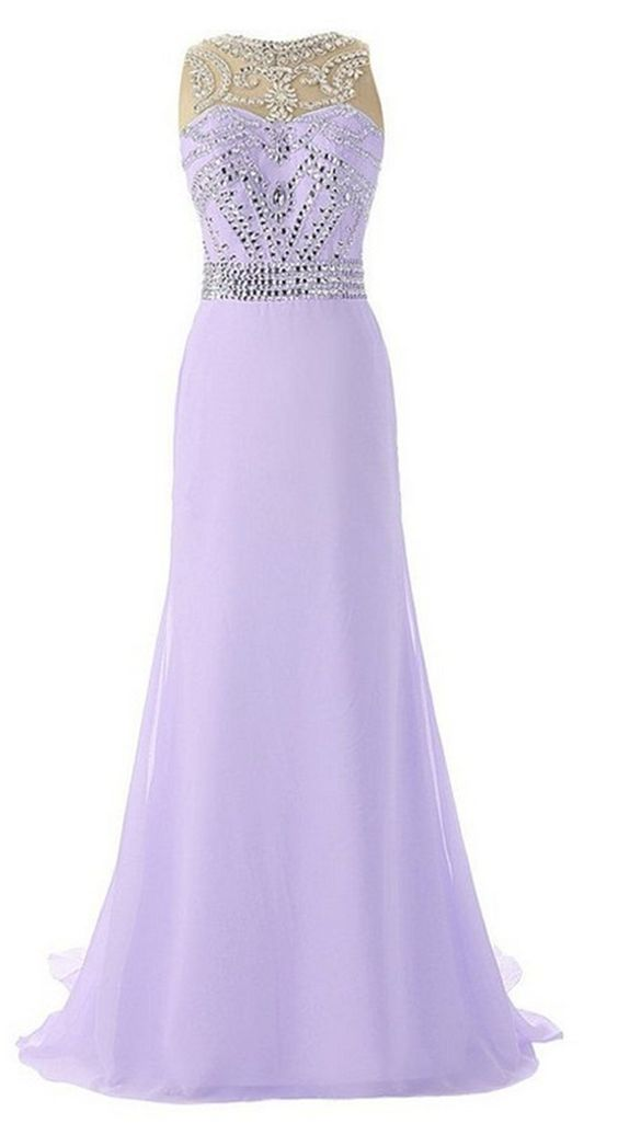 Queenworld Beaded Top Long Formal Chiffon Prom Evening Dresses US-6 Lavender. Have applied for trademark protection.We have our own label and package. The fabric is chiffon with Light,soft, smooth and straight features. Hand wash or Dry clean. Estimated Delivery is set automatically. You will receive it within 20 days totally.If you need a rush order, please contact with me freely. Can be used as Bridesmaid Dress,Evening Dress,Prom Dress,Party Dress and other various occasions.All you…