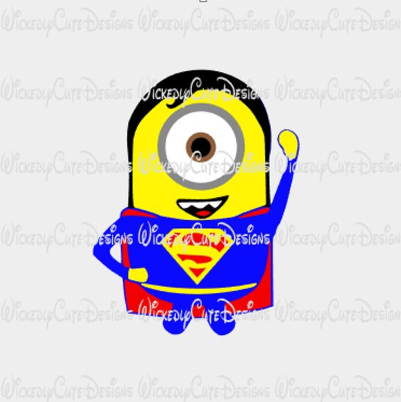 Minion Superman SVG, Studio3, EPS, PNG Digital File