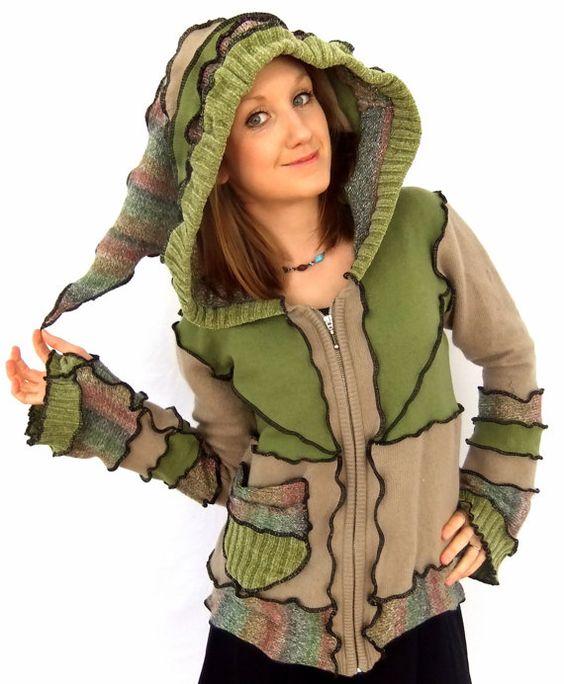Grüne Fee hOOdie  Zippy Sweater  groß von Fairytea auf Etsy
