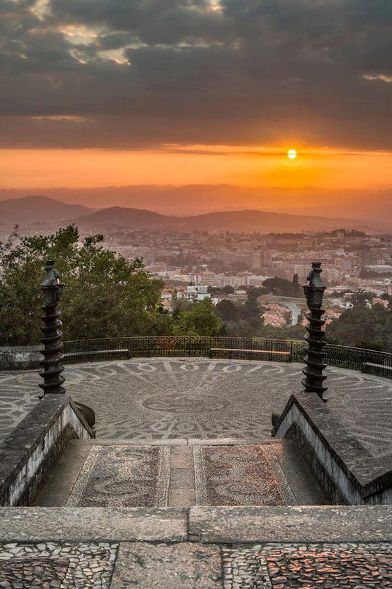 View from the Bom Jesus do Monte #Church #Braga #Portugal: