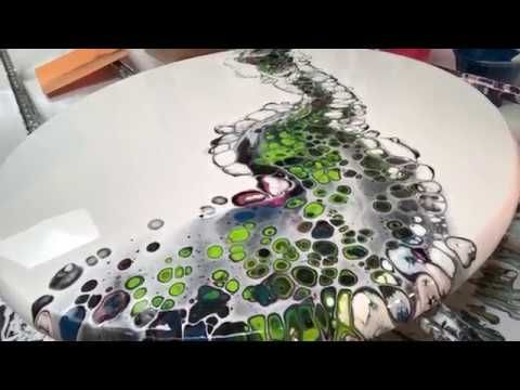 Acrylic Pvc Slide On Circle Panel Number 11 Artwork Youtube Pouring Painting Acrylic Pouring Art Circle Canvas