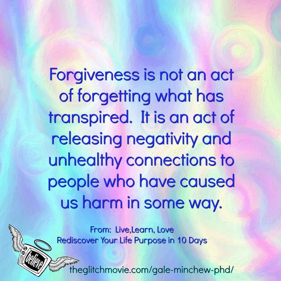 LISTEN AS YOU PIN - Why forgiveness work is essential to our happiness…