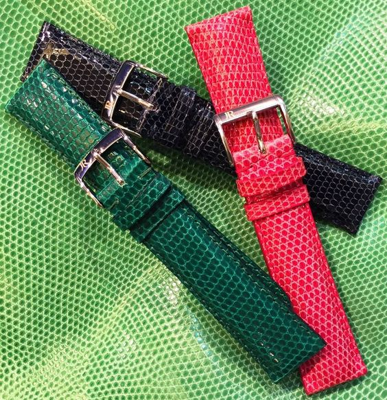 Leather strap from Lizard skin