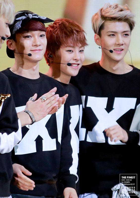 Xiumin And Sehun EXO - Chen, Xiumin and...