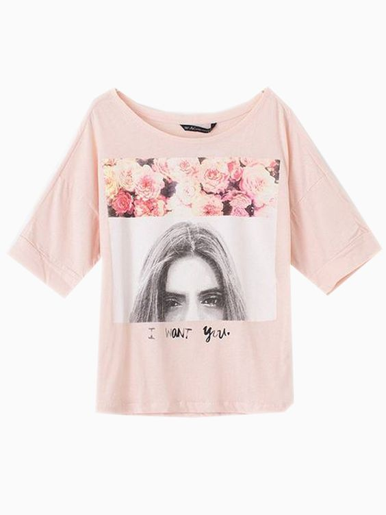 Pink Girl Eyes Print T-shirt | Choies: Gb Girls, Fashion Clothes, Choies T Shirts, Drop Tee, Print T Shirts