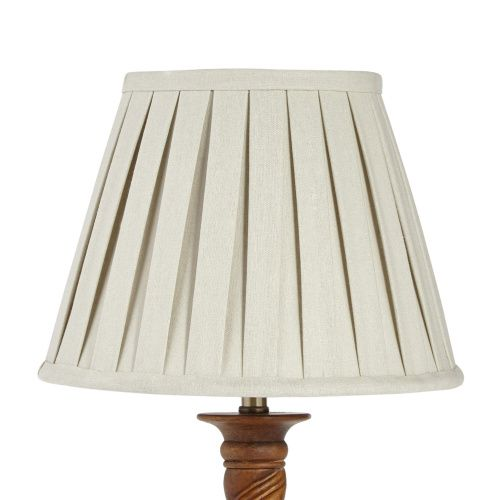 Tapered Box Pleat Shade Natural 25cm Pleated Shade Pleated Lamp Shades Small Floor Lamps