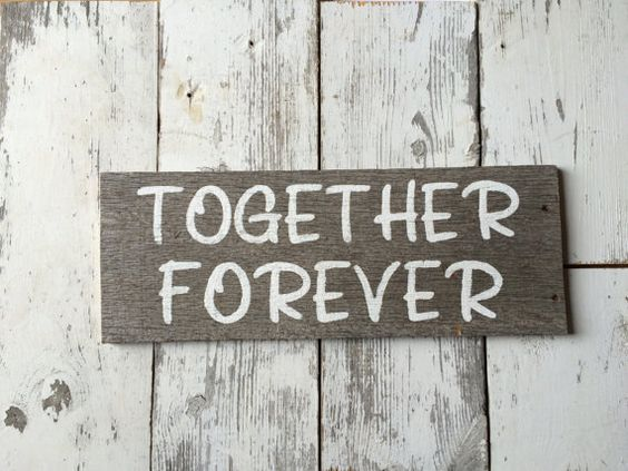 Together Forever Sign/Rustic Wedding by SimplyRusticLooks on Etsy