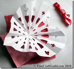 heart paper doilie