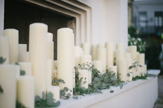 Candles in fireplace   Lauren Carroll Photography