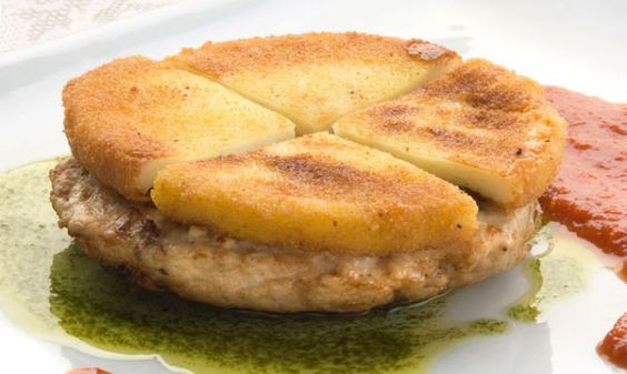 Receta de Hamburguesa de pavo con queso frito