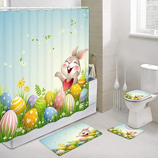 jawo spring holiday shower curtain sets