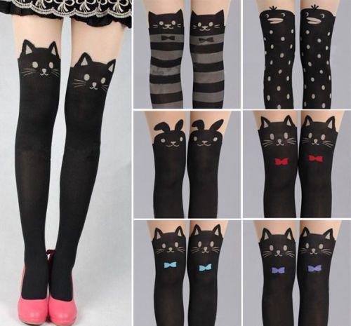 Sexy-Girls-Pantyhose-Design-Pattern-Printed-Tattoo-Stockings-Tights-Leggings