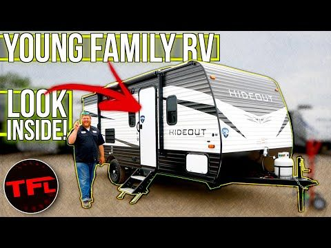 This Entry Level Hideout Rv Trailer Packs A Lot Of Value For Family Adventures Tfl Camper Corner Youtube In 2020 Rv Trailers Family Adventure Entry Level
