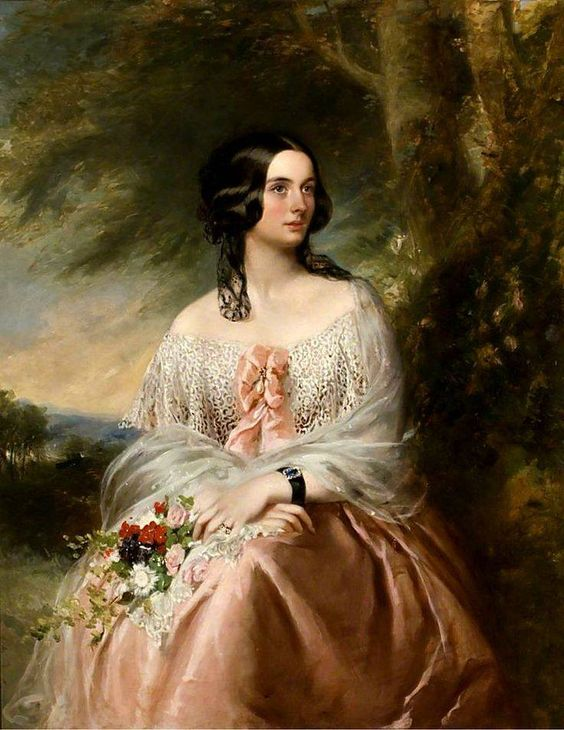 Emily Lady Isham (d.1898), Wife of the 10th Bt Isham, by Richard Buckner, Date painted: c.1842–1877, Oil on canvas, 127 x 99 cm, Collection: Lamport Hall: