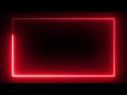 Motion Made Free Red Color Neon Lights Rectangle Frame Animated Loop Background Youtube Frame By Frame Animation Neon Lighting Custom Neon Lights
