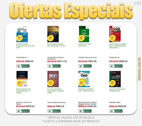 Dá só uma olhada nas #OfertasEspeciais que a Lei Nova preparou para você esta semana. www.leinova.com.br