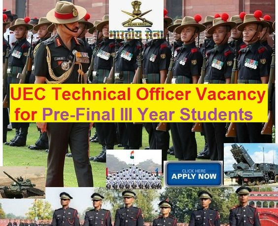 Recruitment of Permanent Commission Officers in Indian Army under UEC 2016