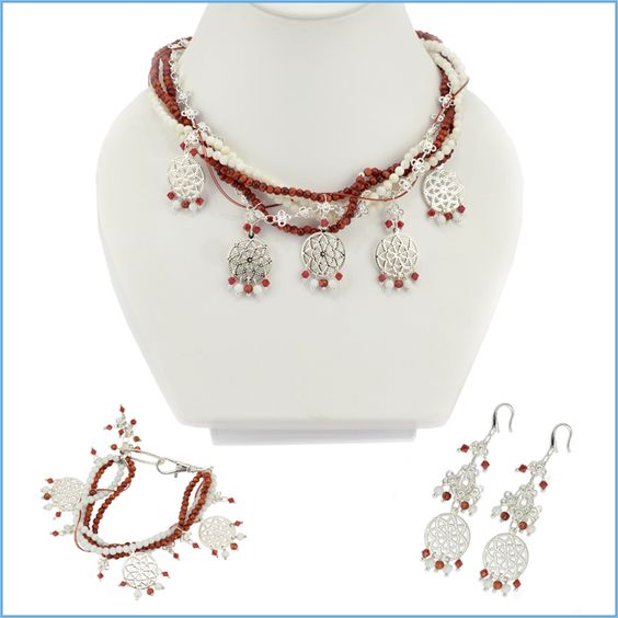 "Love this! ""Mediterranean Seduction Jewelry Set"" - DIY instructions included."